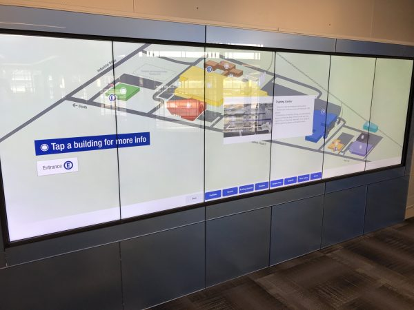 Interactive wall touchscreen